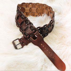 Vintage | Braided Leather Belt